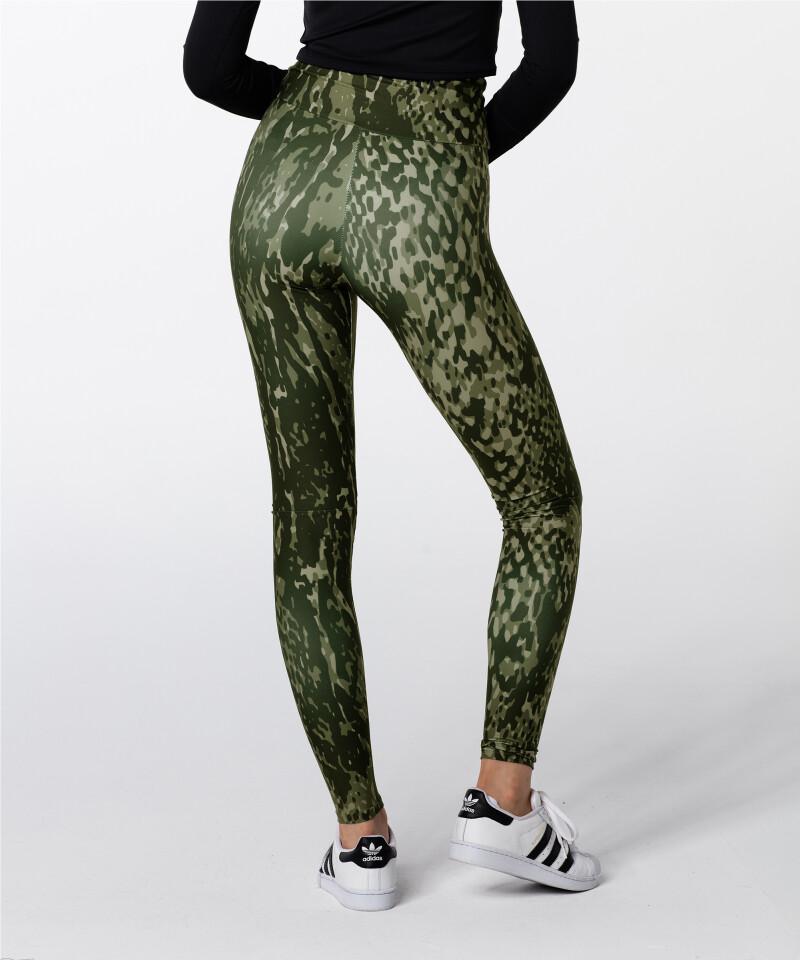 Green Snake Highwaist Printed Leggings 2