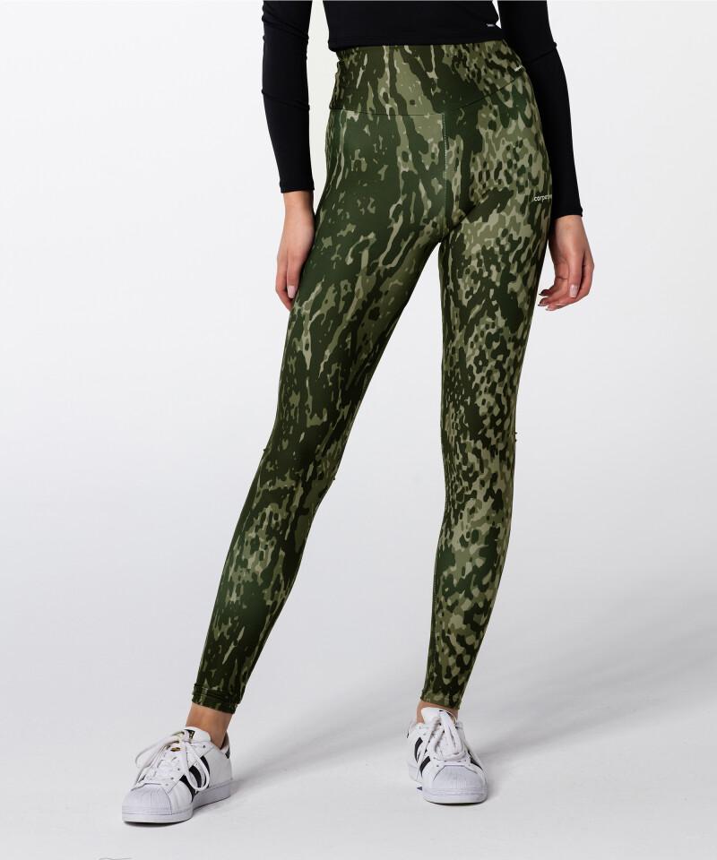 Green Snake Highwaist Printed Leggings 3
