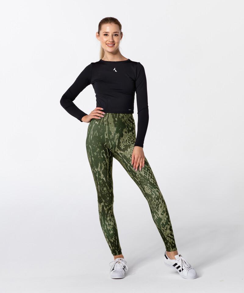 Green Snake Highwaist Printed Leggings 4