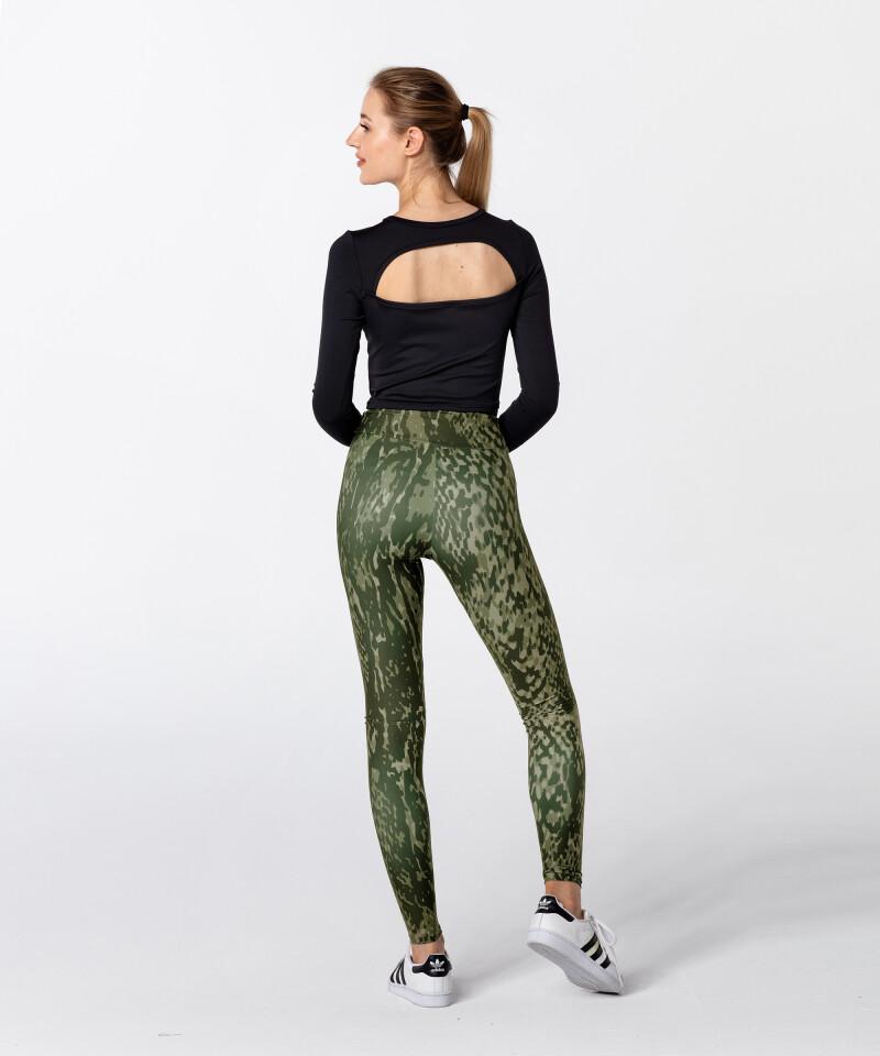 Green Snake Highwaist Printed Leggings 5