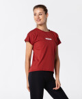 Женская красная футболка Symmetry