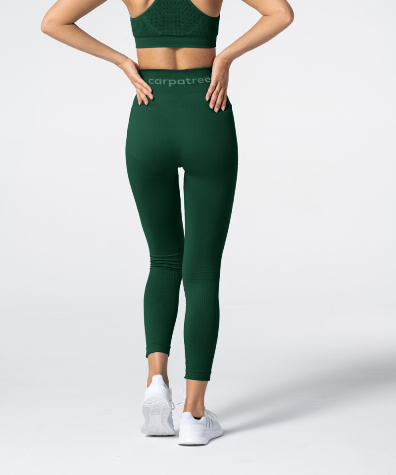 Женские бутылочно-зеленые бесшовные леггинсы Phase 3