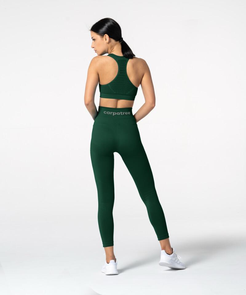 Женские бутылочно-зеленые бесшовные леггинсы Phase 5