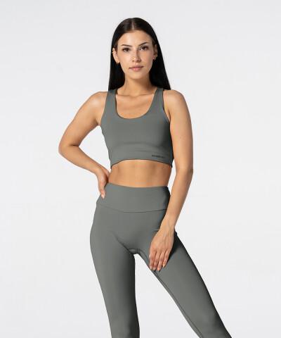 Women's Grey Spark Lengthened Bra 1