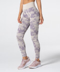 Damen Lila Nahtlose Leggings Camo 1
