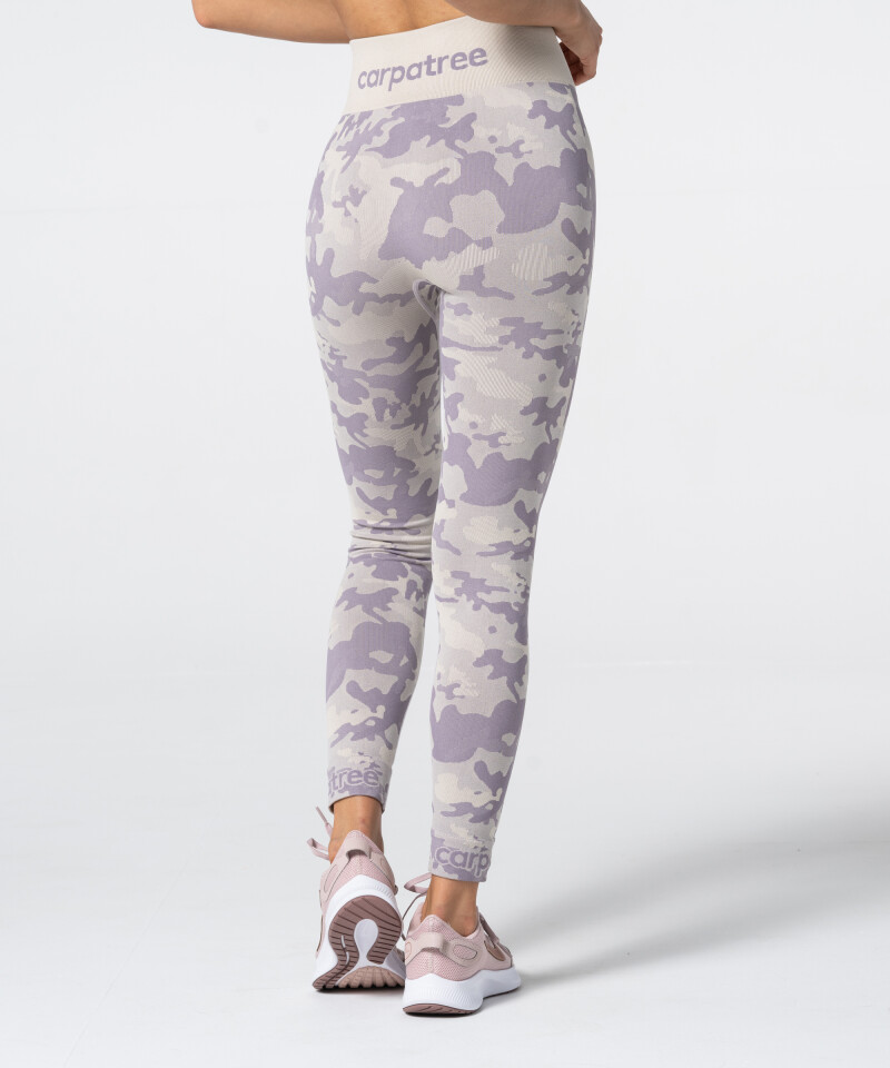 Damen Lila Nahtlose Leggings Camo 2