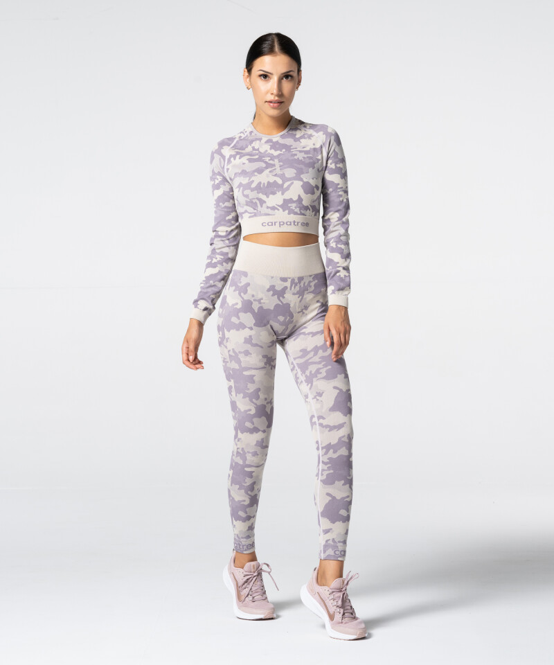 Damen Lila Nahtlose Leggings Camo 4