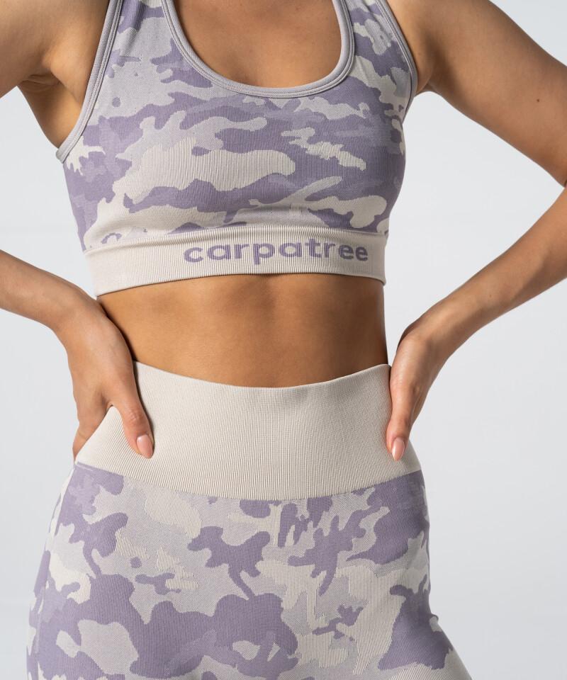 Женский фиолетово-бежевый бесшовный топ Camo 3