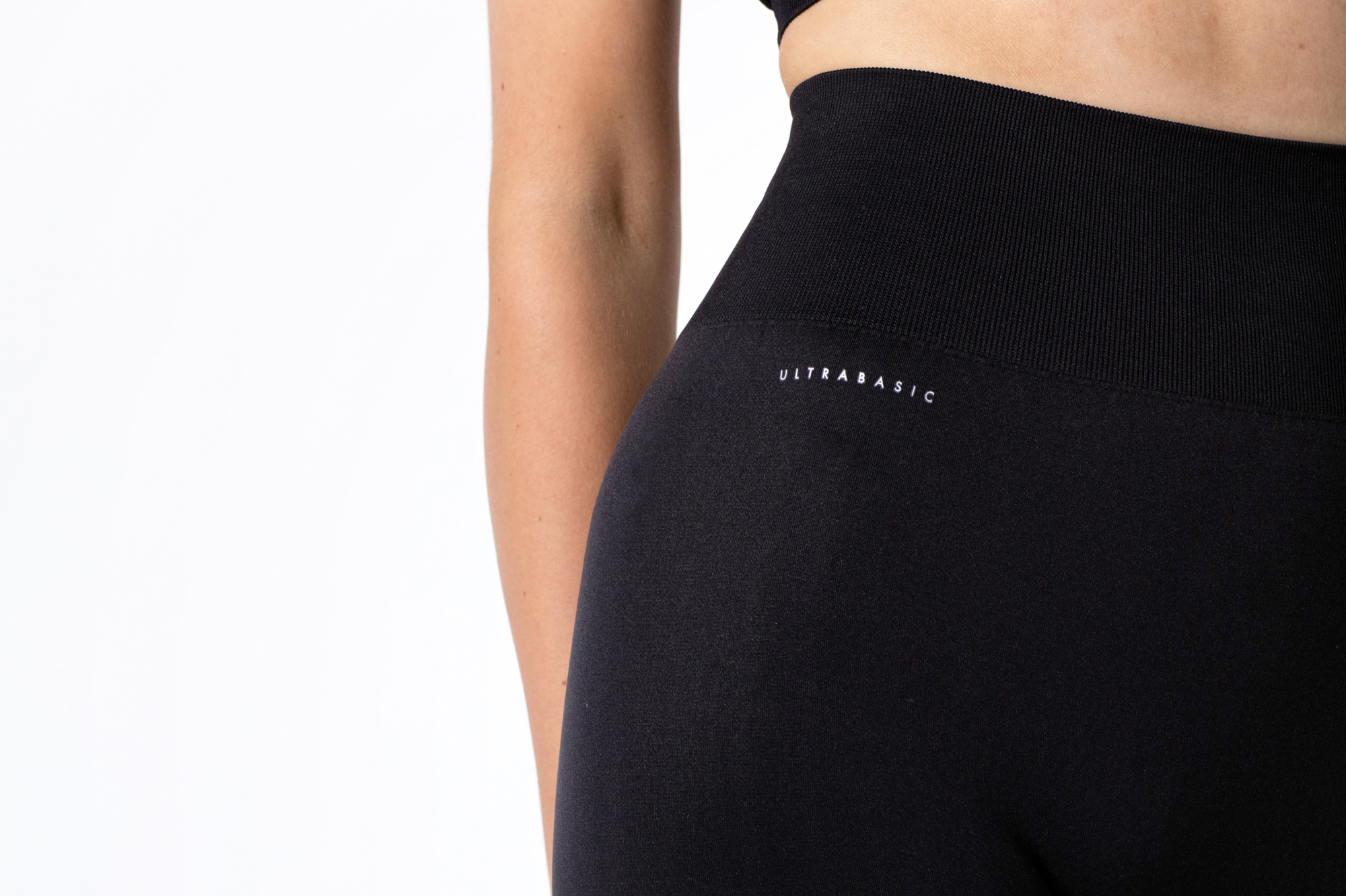black leggings with logo