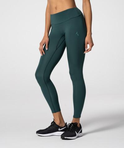 Flaschengrüne Spark Leggings mit hoher Taille