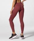 Sportowe burgundowe, rabarbarowe legginsy z wysokim stanem Spark™