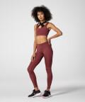 Burgundowe legginsy z wysokim stanem Spark™ na siłownię