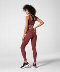 Oddychające Rabarbarowe legginsy z wysokim stanem Spark™