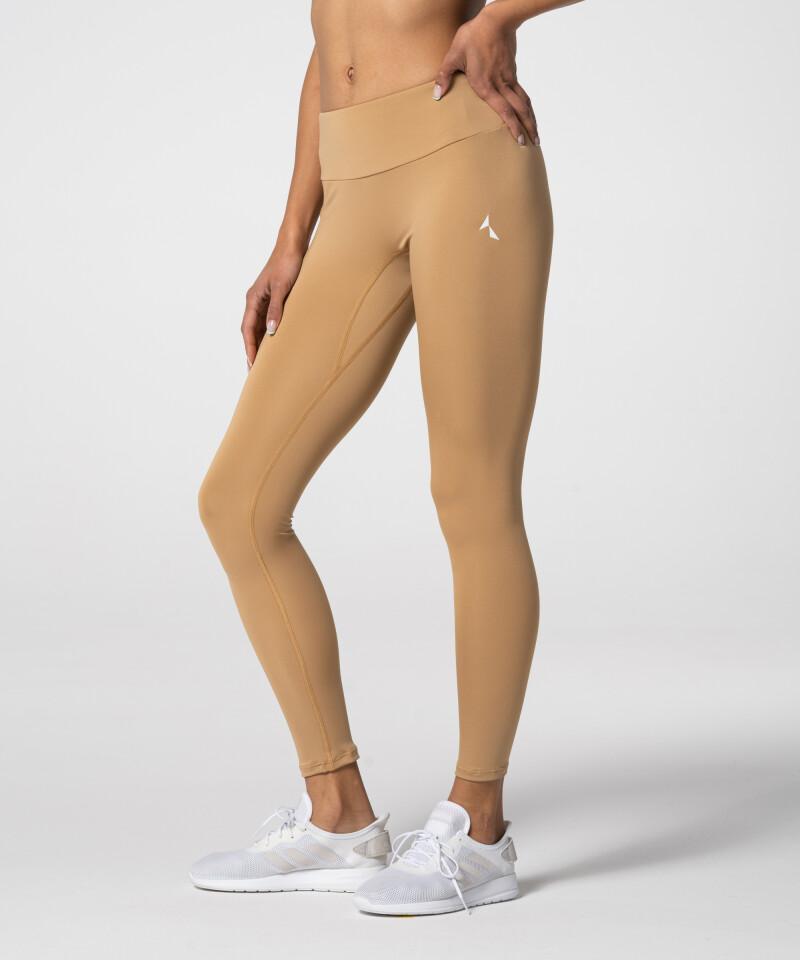 Damskie kawowe legginsy z wysokim stanem Spark™