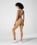 Oddychające kawowe legginsy z wysokim stanem Spark™