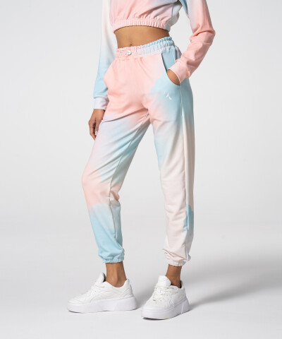 Women's Turquoise Tie Dye Juniper Sweatpants