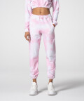 Pink Tie Dye Juniper Sweatpants with welts