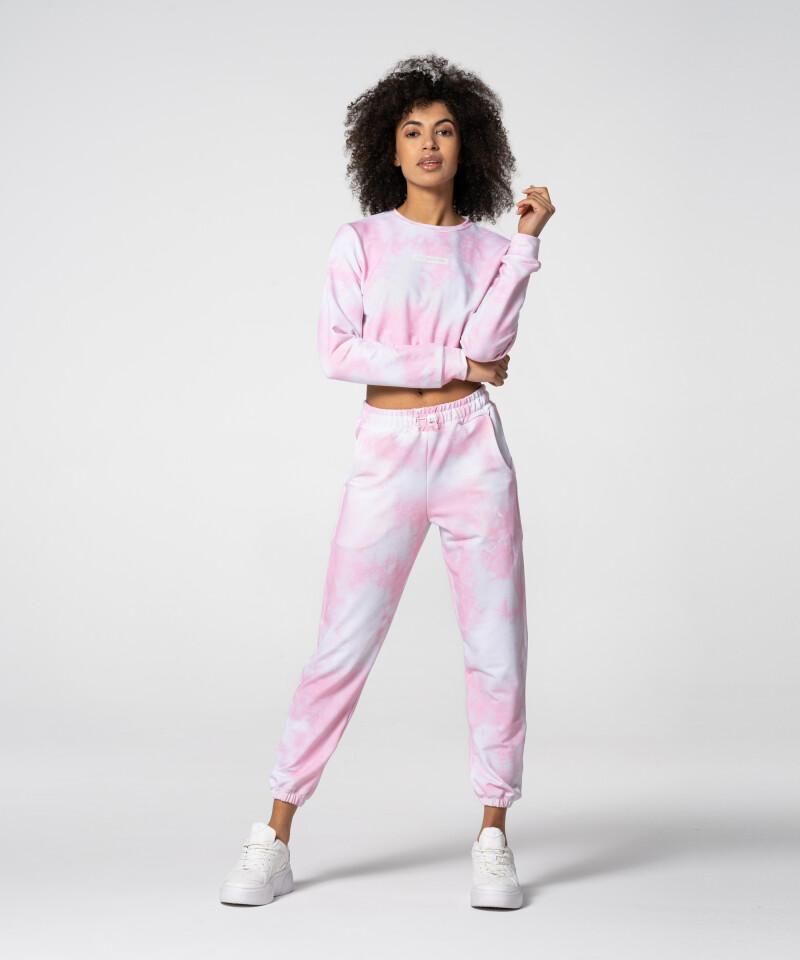 Розовый короткий свитшот Juniper Tie Dye для спортзала