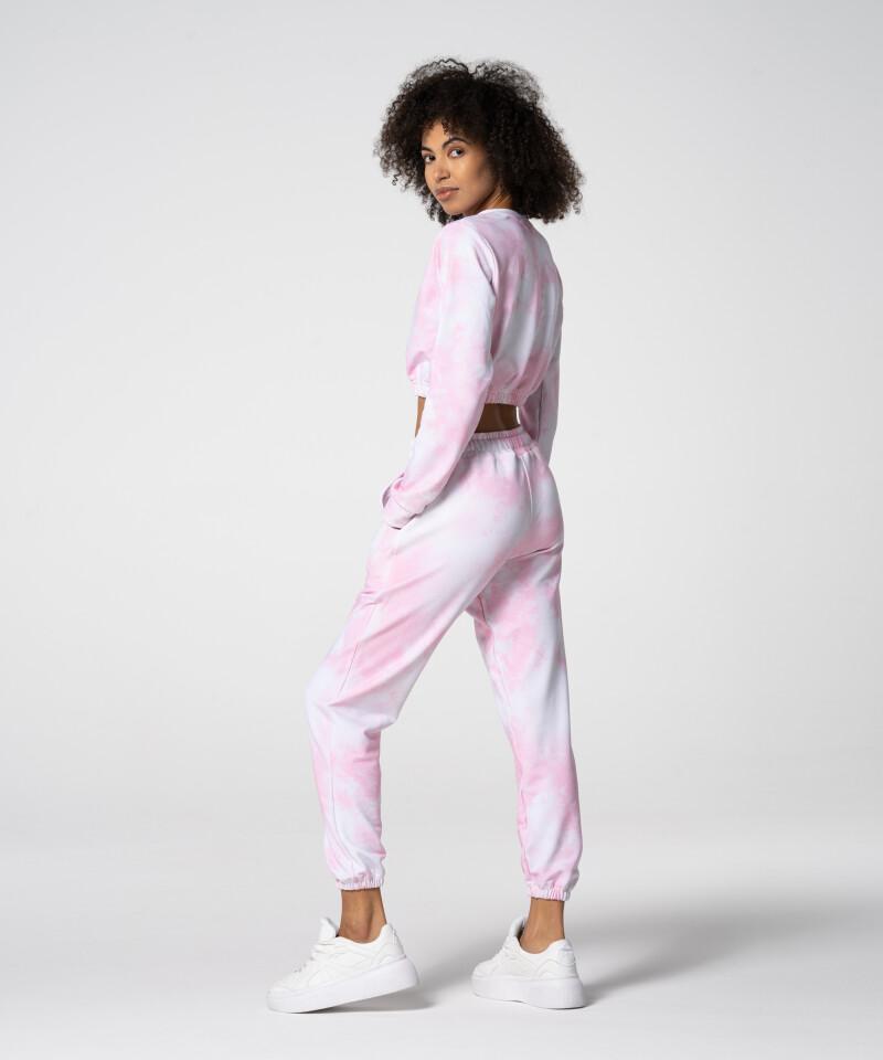 Стильный розовый короткий свитшот Juniper Tie Dye