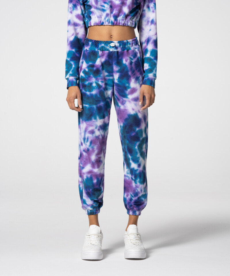Фиолетово-синие спортивные штаны Juniper Tie Dye для спортзала