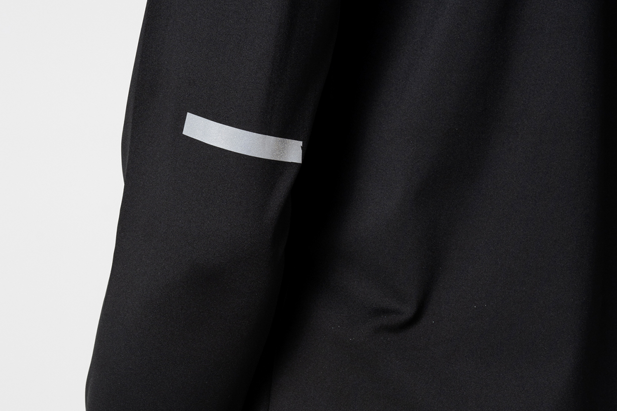 Black hoodie with reflective logo