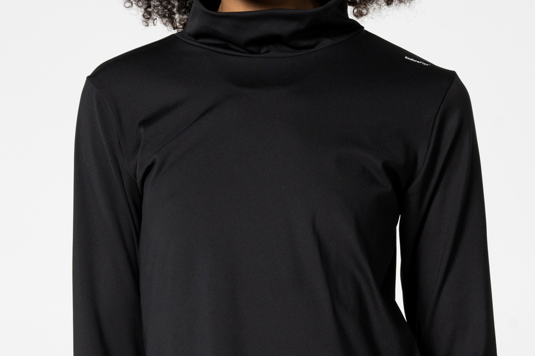 Black hoodie with high neck