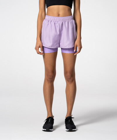Lavender Pocket Shorts with print