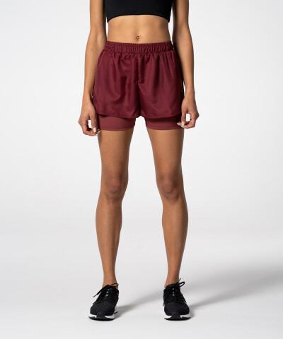 Burgundy Pocket Shorts for summer