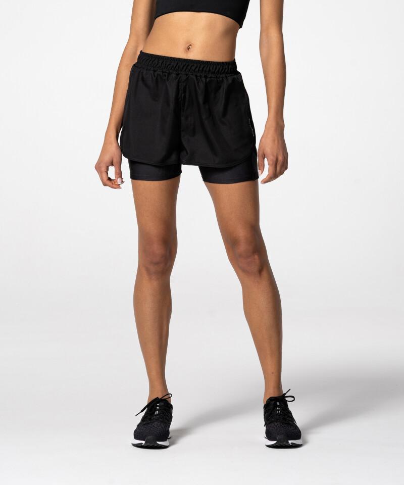 Черные шорты с карманом для бегунов