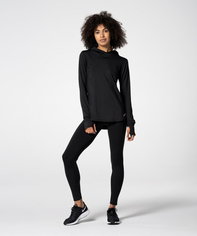 Black Compas Hoodie for active women