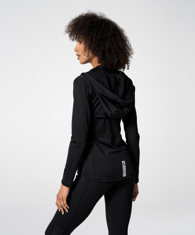 Zipped Black Aspen Hoodie for women