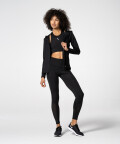 Stylish Zipped Black Aspen Hoodie