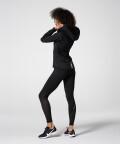 Zipped Black Aspen Hoodie for running