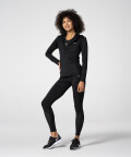 Zipped Black Aspen Hoodie for gym
