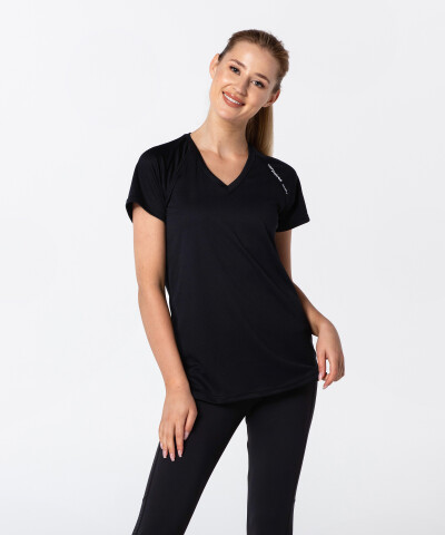 Schwarzes thermoaktives T-Shirt Active