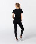 Czarny t-shirt Active z krótkimi rękawami