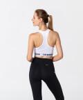 Modern White X-mesh Bra for gym