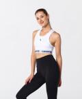 Modern White X-mesh Bra for fitness