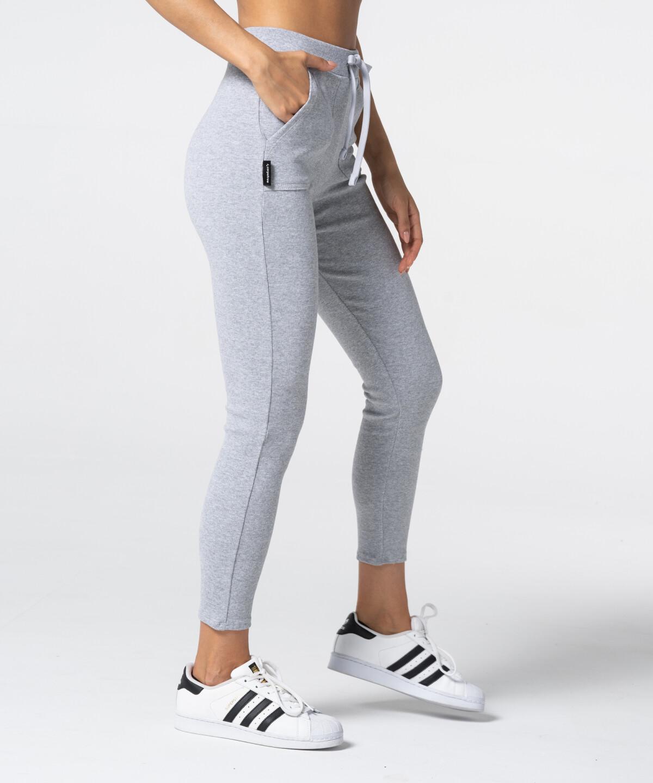 Rib Sweatpants, Grey