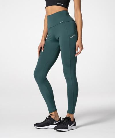 Леггинсы с карманами Libra женские, зеленые