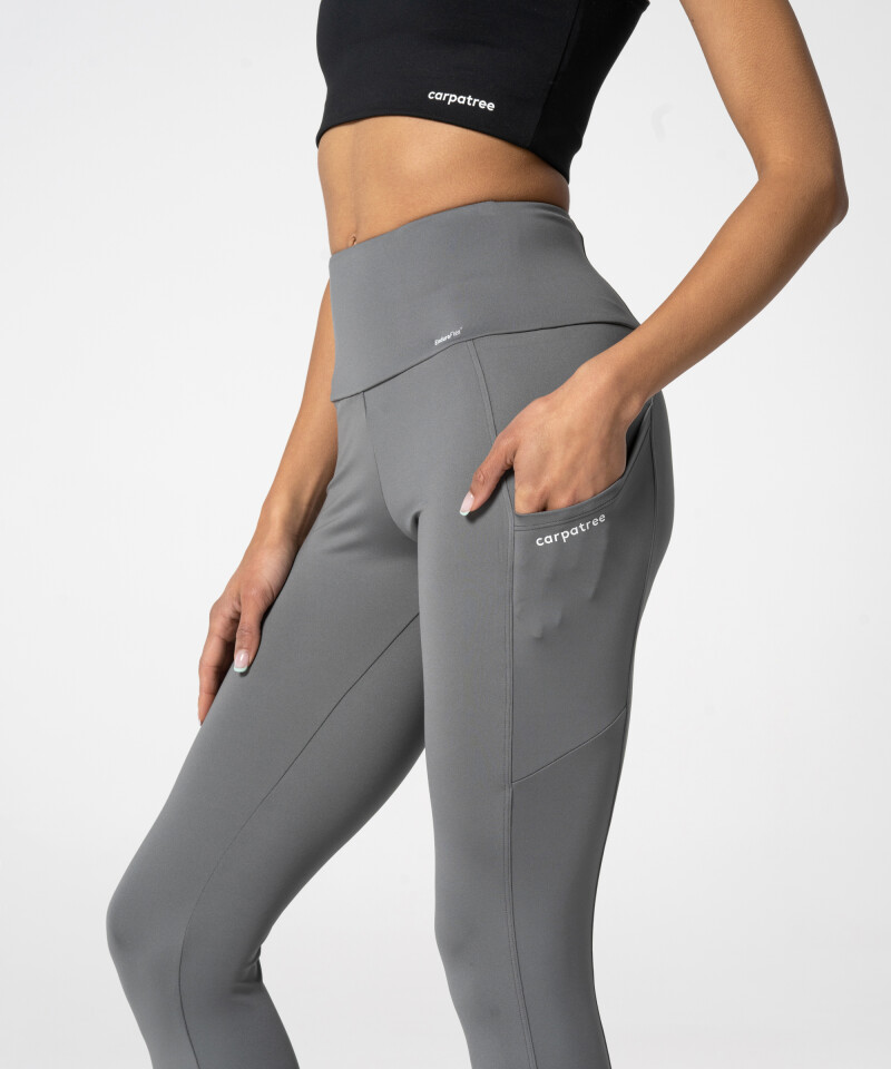 Grey Leggings with three pockets