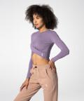 Gaia top s dlouhým rukávem, Levandulový, fialový