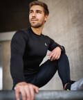 Men's running leggings with pockets
