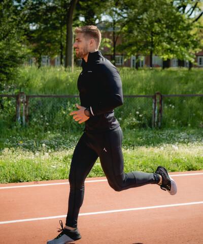 Černé běžecké legíny