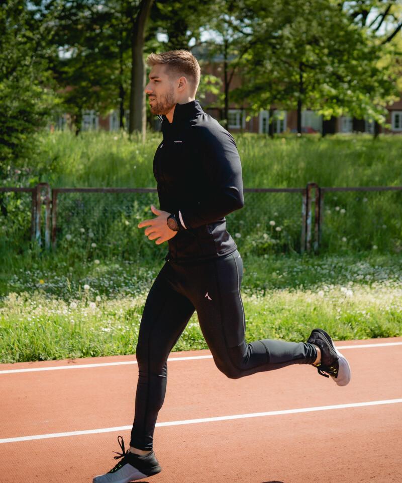 Black men's running leggings