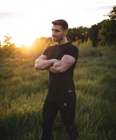 Męska koszulka termoaktywna do biegania