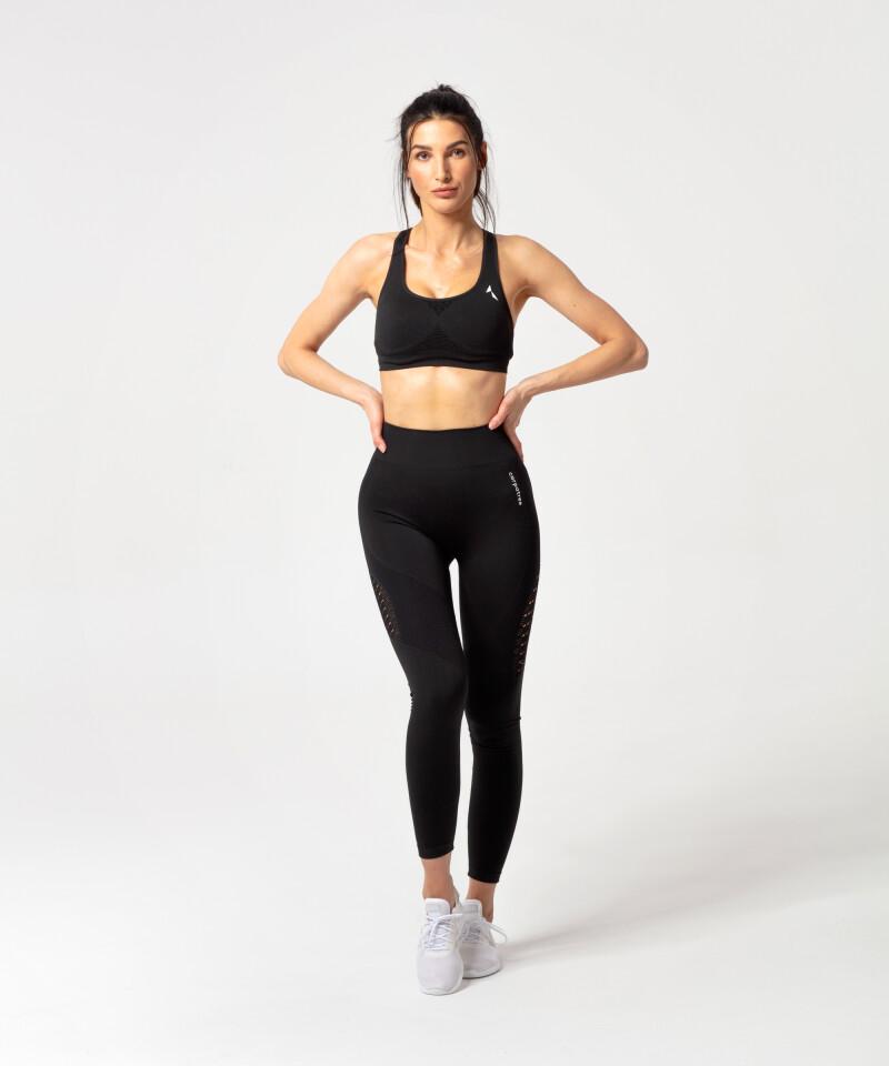 Biustnosz Phase na siłownię, czarny