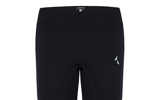 black swipe leggings