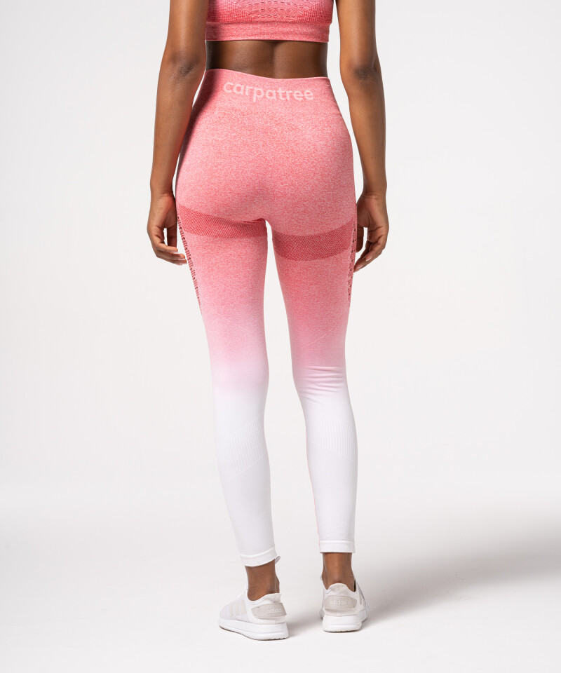 Pink and white ombre leggings