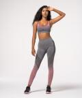 Women's Grey & Burgundy Phase Seamless Leggings